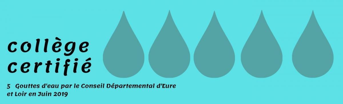 5 gouttes d eau par le Conseil Départemental