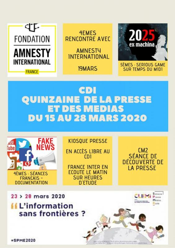 Affiche semaine de la presse 2020
