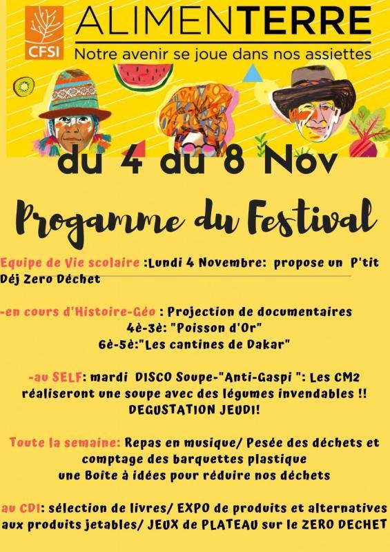 Programme du Festival Alimenterre